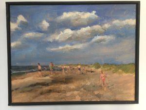 katwijk, strand, kunstenaars, en plein air